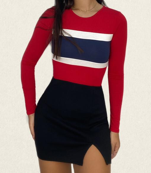Bodysuit tricolor