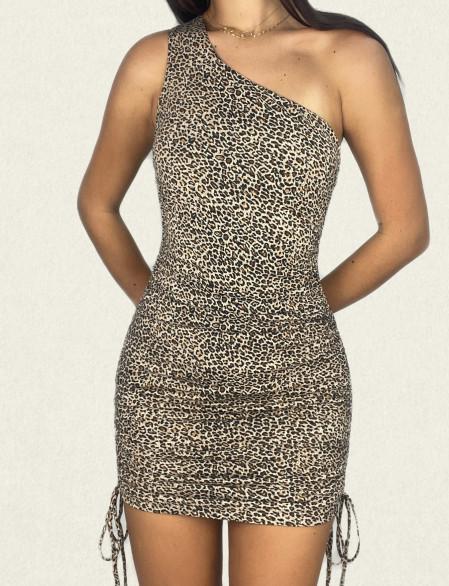 Robe imprimé léopard avec...