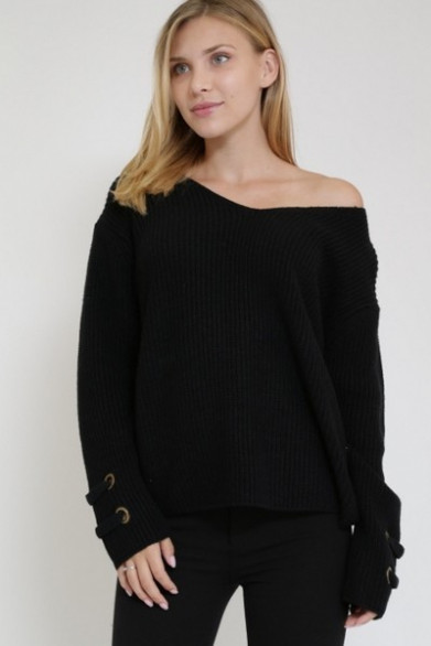 Pull simple manche lacet