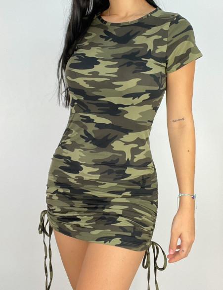 Robe t-shirt camouflage