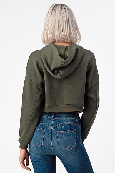 Cropped hoodie avec capuche