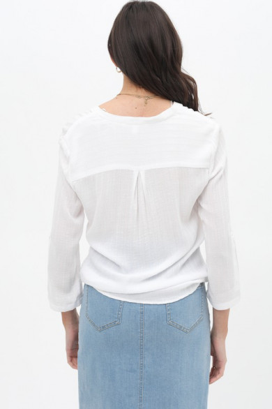 Top cache-coeur chemise