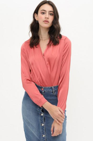 Bodysuit chemise satiné