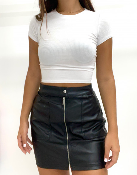 Crop top col rond