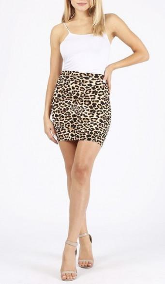 Jupe imprimé léopard