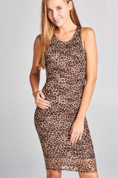 Robe débardeur léopard