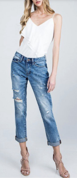 Jean relaxe taille moyenne