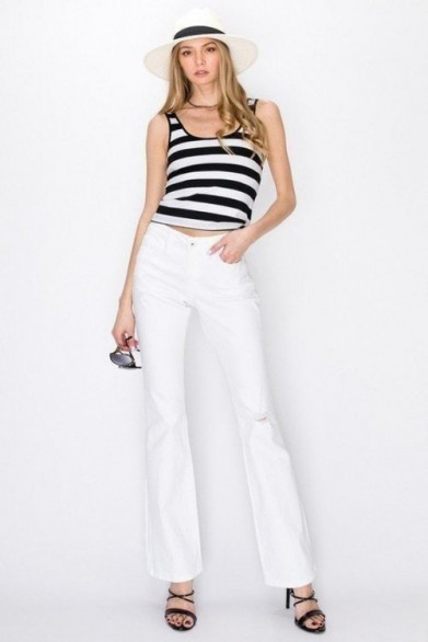 Jean taille moyenne  boot cut