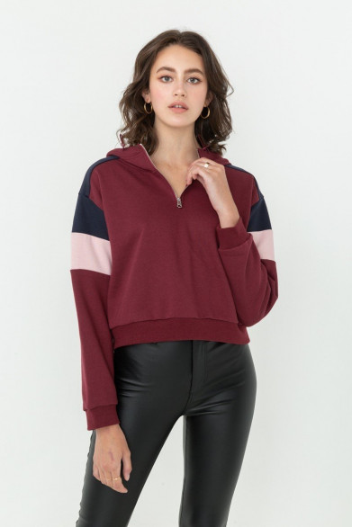 Crop hoodie avec capuche